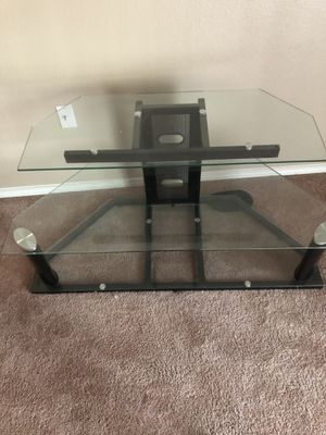 Tv stand with three glass shelves for Sale in Lewisville, TX