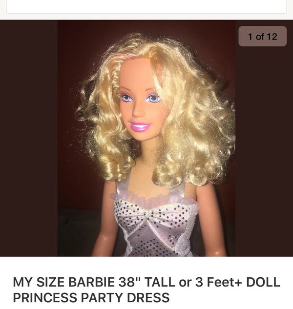 "Life size Barbie! 38"" tall"