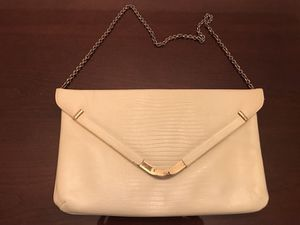 Off-White Clutch Purse with Chain Strap for Sale in Silver Spring, MD