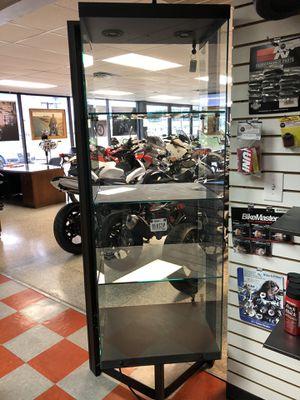 Display case w/lock heavy duty glass & black metal for Sale in Fort Worth, TX