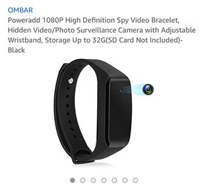PowerAdd 1080p high definition spy video brackets, hidden video/photo surveillance camera with adjustable wrist band, storage up to 32G( SD card not for Sale in Eastvale, CA