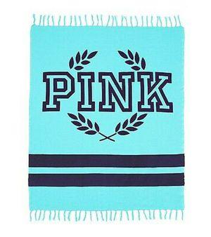 Victoria secret pink blanket (turquoise) for Sale in Sudley Springs, VA