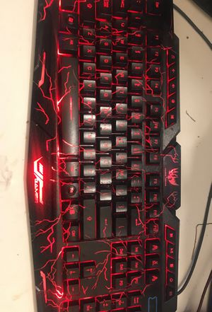 Gaming keyboard and computer monitor need pick up today or tomorrow for Sale in Portland, OR