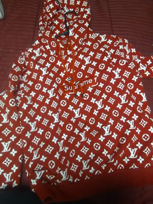 Supreme Louis Vuitton Red Box Logo Hoodie for Sale in Westminster, CO