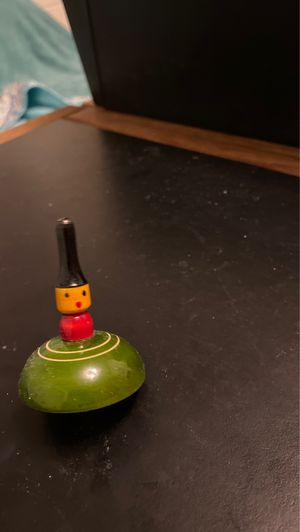 Hand-painted Wooden Little Lady Spinning Top for Sale in Ithaca, NY