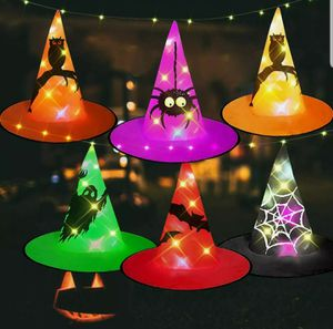HIGBRE Halloween Decorations Witch Hats, 6Pcs Hanging Lighted Witch Hat Outdoor for Sale in El Monte, CA