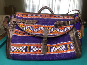 Moroccan Kilim Leather Duffle Bag for Sale in San Diego, CA