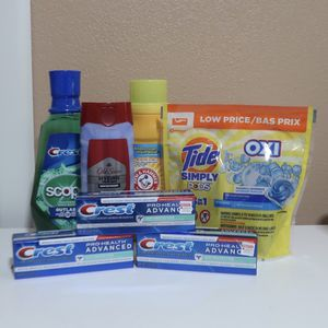 Crest, Tide, Arm & Hammer, Old Spice Bundle for Sale in Garden Grove, CA