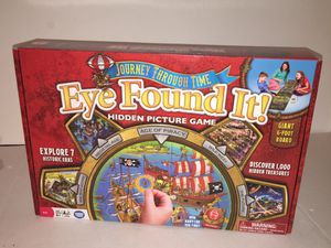 Journey Through Time EYE FOUND IT! Hidden Picture Game Kids Board Game 6 Foot Board COMPLETE for Sale in Raleigh, NC