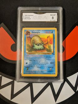 Pokemon - Omanyte 52/62 - GMA Mint 8 for Sale in Beverly Hills,  CA