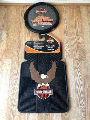 Harley Davidson Floor Mats & Steering Wheel Cover for Sale in Riverside, CA