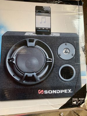 Sondpex Audio With Amplifier Docking Speaker System Music Player CSF-D65 200W Max for Sale in Amherst, OH