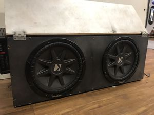 "12"" Kicker Subwoofers- Amplifiers- Box for Sale in San Diego, CA"