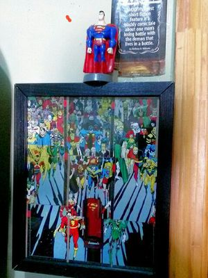 Custom-made Death of Superman Prime.. Comes with a Superman action figure action action figure is 20 years.. Nvcc cards are worth money to for Sale in Brooklyn, NY