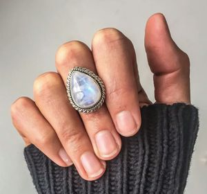 White Water Drop Moonstone 925 Sterling Silver Ring for Sale in Wichita, KS