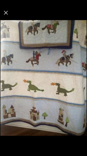 Pottery Barn Kids Castle Full/Queen Quilt w/ 2 Shams for Sale in Chattanooga, TN