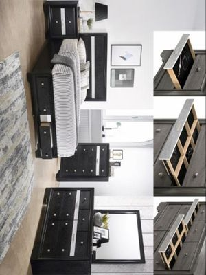 Regata Black/Silver Storage Bedroom Set CROWN MARK for Sale in Dallas, TX