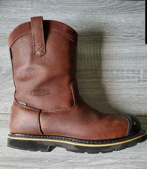 KEEN Men's Dallas Wellington, Steel Toe Work Boots-Brown Leather, Size 10.5 for Sale in Lutz, FL