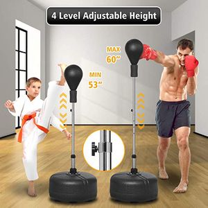 """Punching Bag with Stand for Adults Kids Reflex Speed Bag with Solid Boxing Ball Height Adjustable 53""""-60"""" Free Standing Boxing Set for Home Gym Workou for Sale in Ontario, CA"""