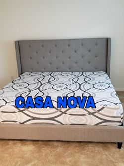 BRAND NEW BED FRAME 🛌KING ✨COMES IN BOX 📢MEMORY FOAM MATTRESS INCLUDED ⚡IN STOCK 📢📢SAME DAY DELIVER OR PICK UP 📢 for Sale in Compton,  CA