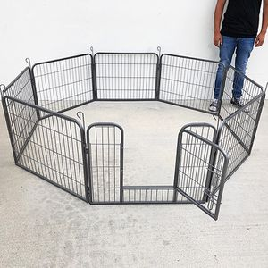 "(New In Box) $70 Heavy Duty 24"" Tall x 32"" Wide x 8-Panel Pet Playpen Dog Crate Kennel Exercise Cage Fence Play Pen for Sale in La Habra Heights, CA"