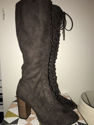Grey heeled boots for Sale in Naperville, IL