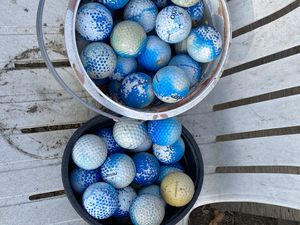 Half painted golf balls for chipping for Sale in Sunnyvale, CA