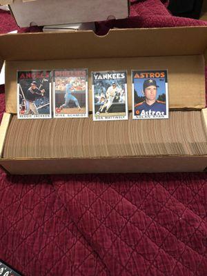 1986 topps baseball card set complete mint 792 cards for Sale in Beltsville, MD