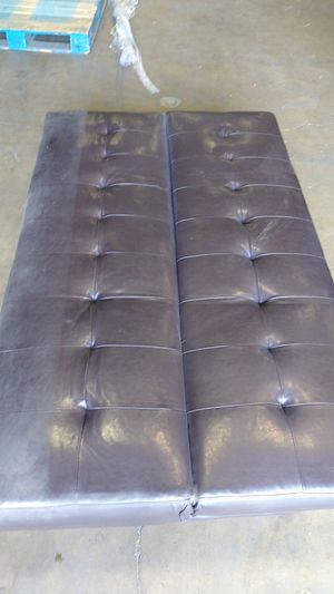 Brown leather futon as is for Sale in Houston, TX
