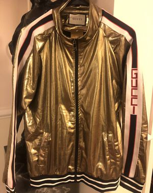 Unisex G Metallic Gold Tracksuit Jacket sz M ! No trades ! New with tags . for Sale in Silver Spring, MD