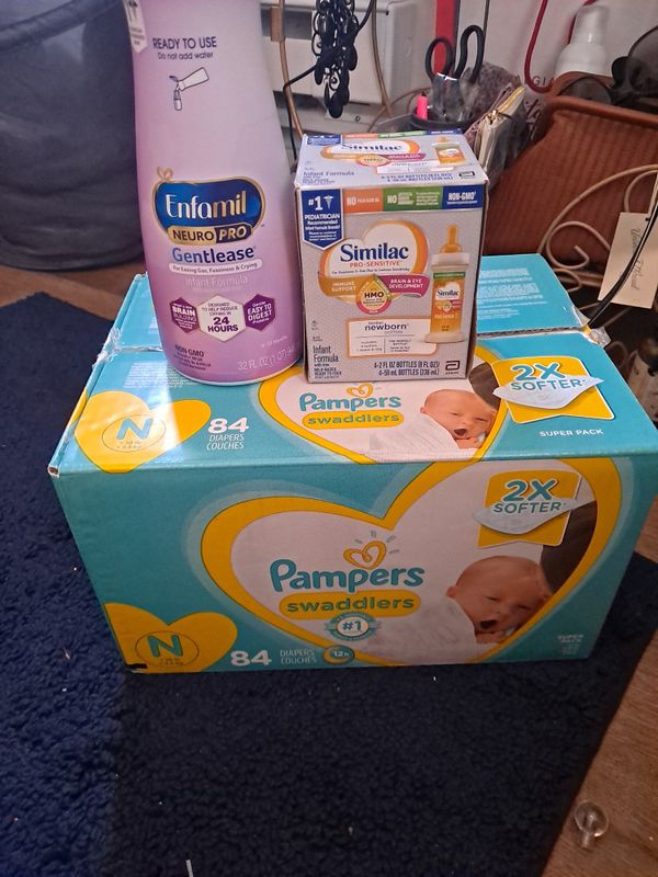Brand New Case Of Pampers Size Newborn And Formula