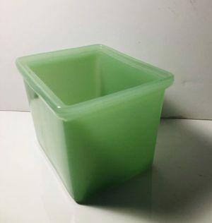 Real Antique Jade Green Jadeite Jadite Storage Glass Refrigerator Box Planter for Sale in Houston, TX