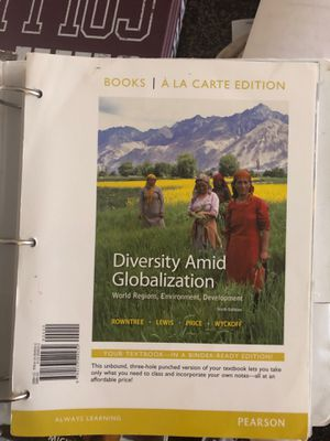 Diversity amid globalization : geography college book for Sale in Fontana, CA