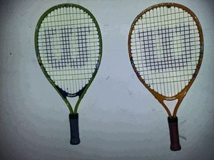 2 child tennis rackets. Wilson kid tennis rackets for Sale in Wake Forest, NC