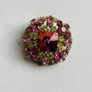 Vintage Austria Signed Pink Rhinestone Brooch for Sale in Willow Grove, PA