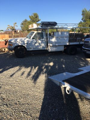 Ford one ton flatbed truck with tool boxes for Sale in Victorville, CA