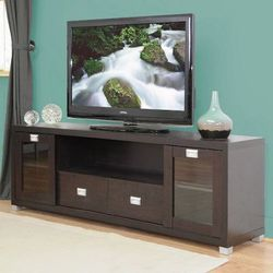 "Baxton Studio TV Console Television Media Stand Sliding Doors Drawers 69x16x23"" for Sale in Brea,  CA"