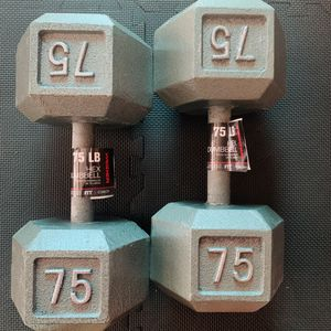 75 pound Weider dumbbell pair 💪 for Sale in City of Industry, CA