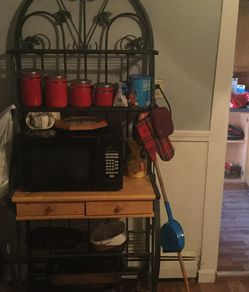 Metal Bakers Rack...roughly 6 feet tall 3 1/2 feet wide...4 shelves, 2 drawers...need gone ASAP for Sale in Gardner,  MA