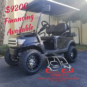2015 GAS CLUB CAR PRECEDENT GOLF CART WITH BLACK ALPHA BODY KIT for Sale in US