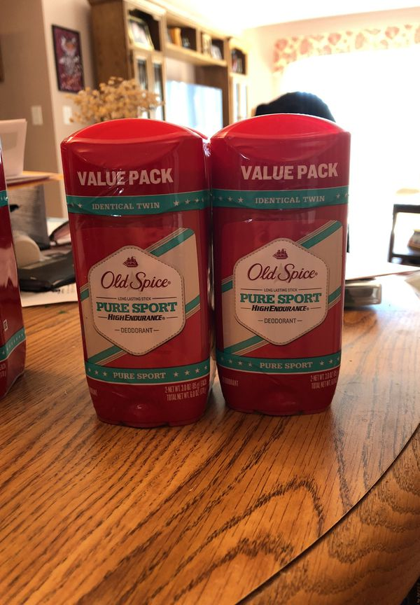 Old spice pure sport high endurance 4, 2 packs. - 8 total!