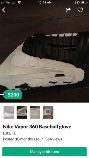 Nike Vapor 360 Baseball glove for Sale in Lutz, FL