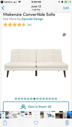 Brand new white leather futon for Sale in San Francisco, CA