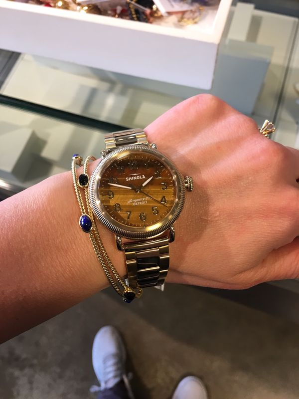 David Yurman 4 Station Bracelet Solid 18k Gold and Black Onyx Bangle