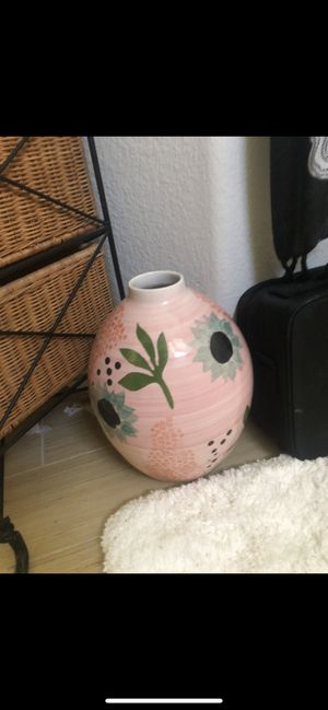 Pink Portugal Style Floral Vase for Sale in Carlsbad, CA