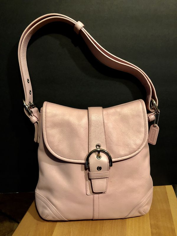 Coach Soho Soft Pink leather flap crossbody shoulder bag