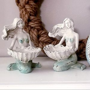 """Brand New! Pair 5 1/4"""" Mermaid Candle Holders for Sale in Miami, FL"""
