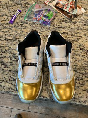 Jordan retro's 11 low white& metallic gold for Sale in Fresno, CA