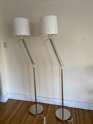 Adjustable Floor Lamps with White Shades for Sale in Portland, OR