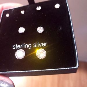 925 silver earrings & cz diamonds for Sale in Hillsboro, OR